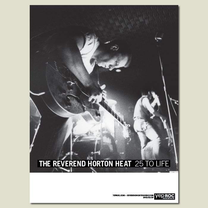 Reverend Horton Heat - 25 To Life - Poster