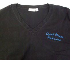 Nick Lowe - Quiet Please Black Men's V-Neck Sweater