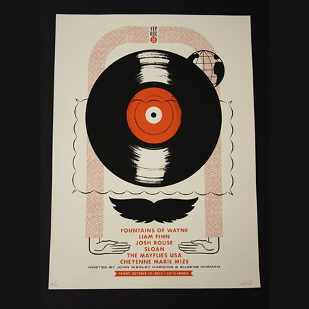 Yep Roc 15 - Friday 10/12 Silk-Screened Poster