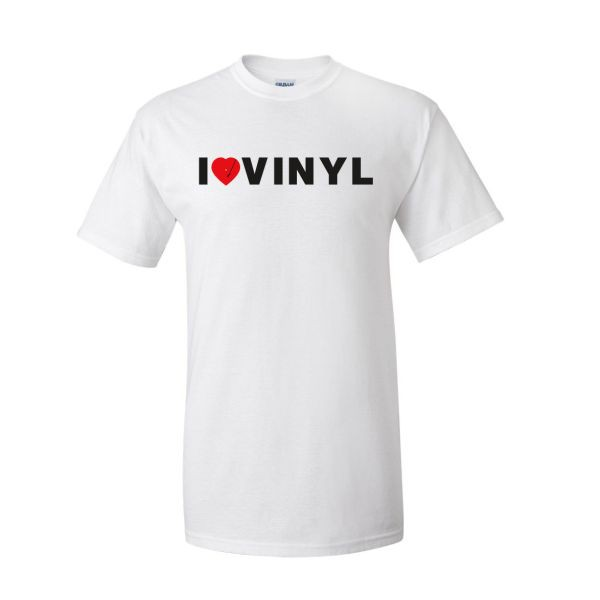 Yep Roc - I Heart Vinyl - T Shirt (White)