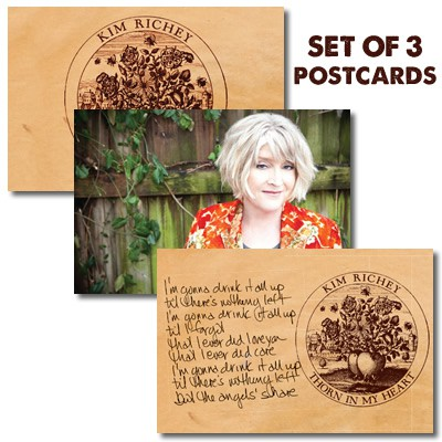 Kim Richey - Thorn In My Heart - 3-Postcard Set