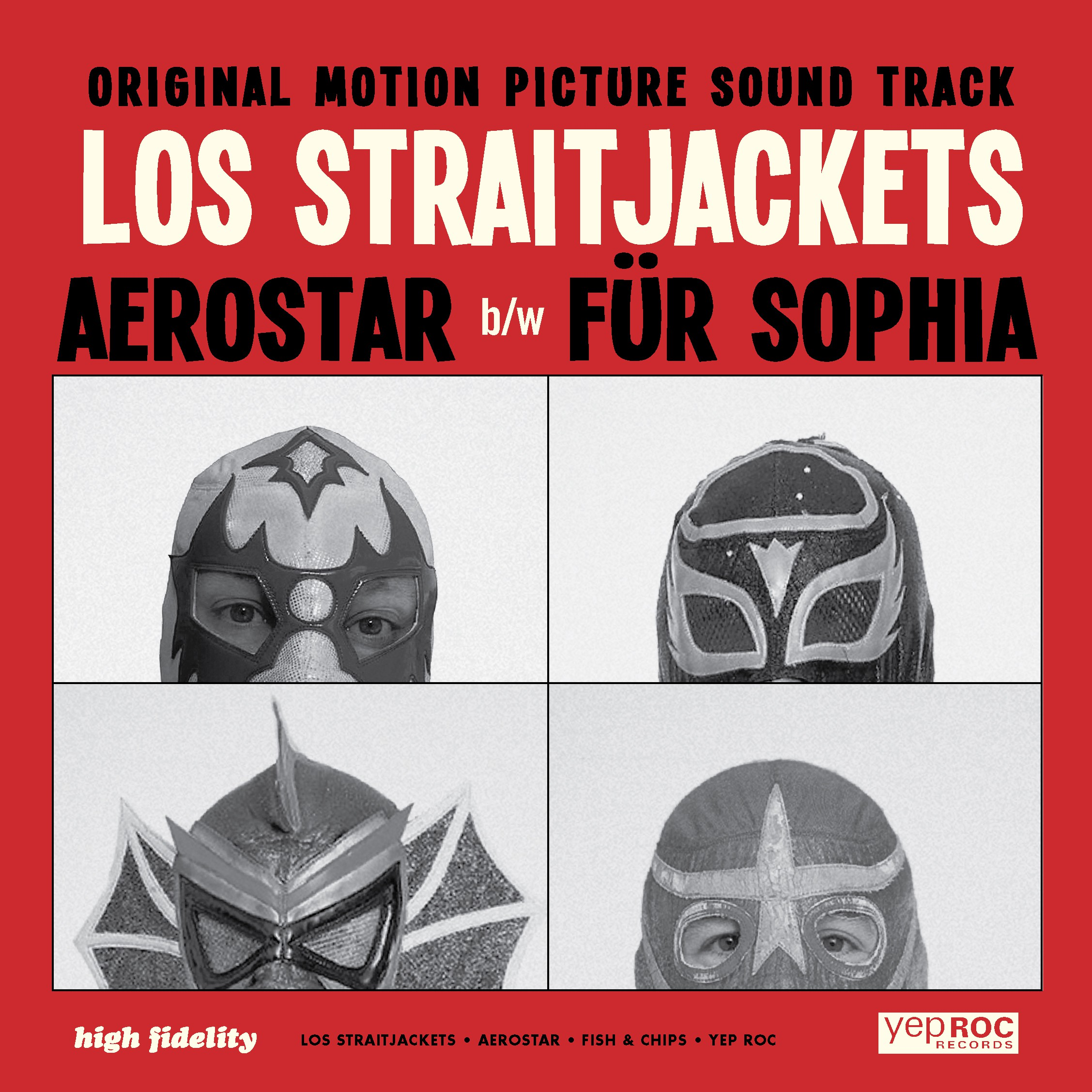 "Los Straitjackets - ""Aerostar"" b/w ""Fur Sofia"" - 7-Inch Single"
