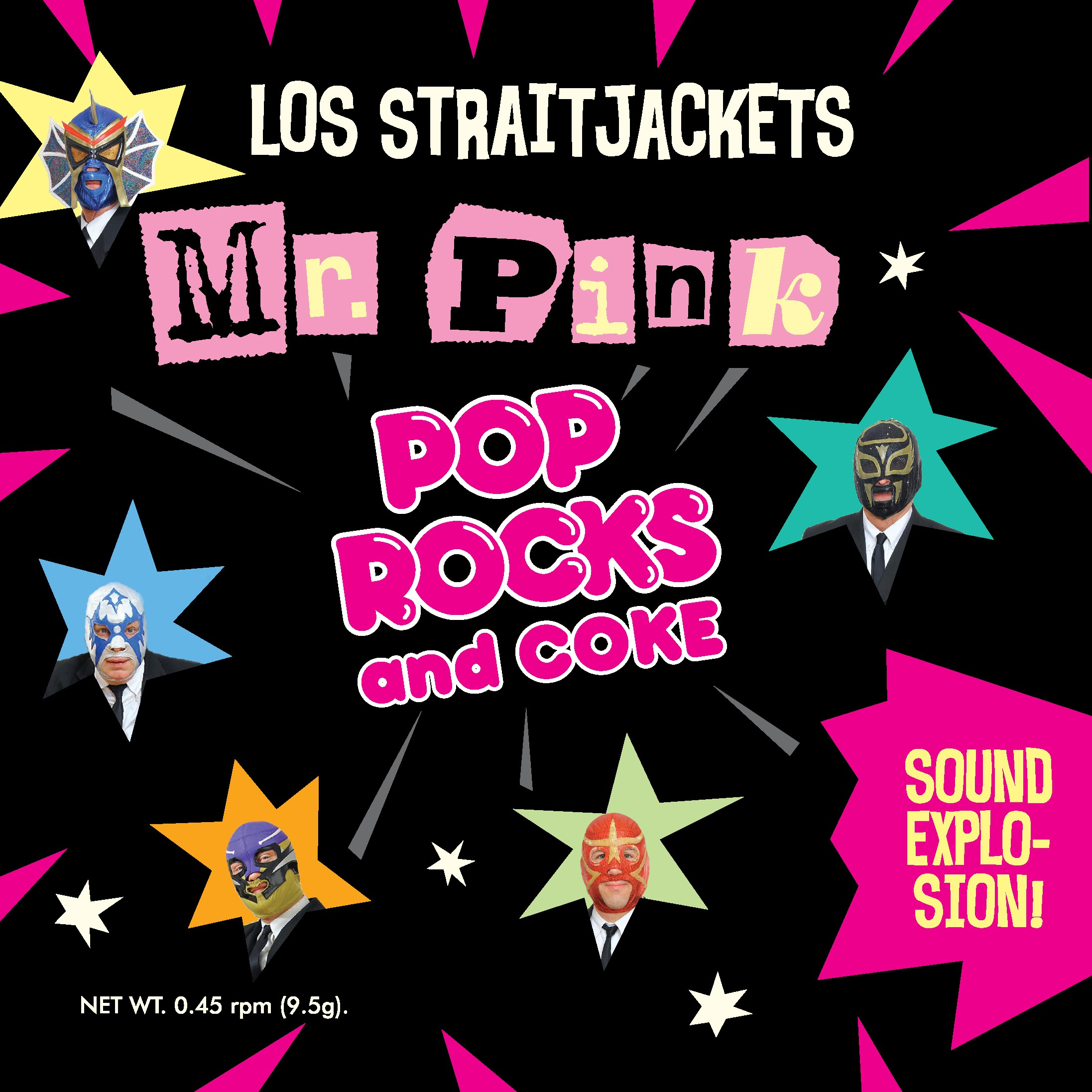 "Los Straitjackets - ""Mr. Pink"" b/w ""Pop Rocks"""
