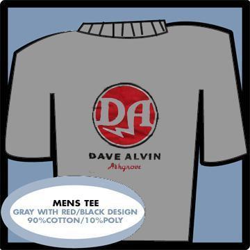 Dave Alvin - Grey Logo - T-Shirt