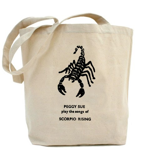 Peggy Sue - Play the Songs of Scorpio Rising - Canvas Tote