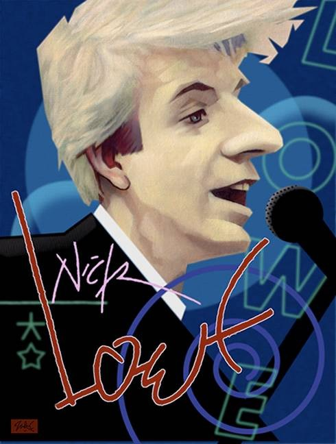 Nick Lowe - Quiet Please - Poster
