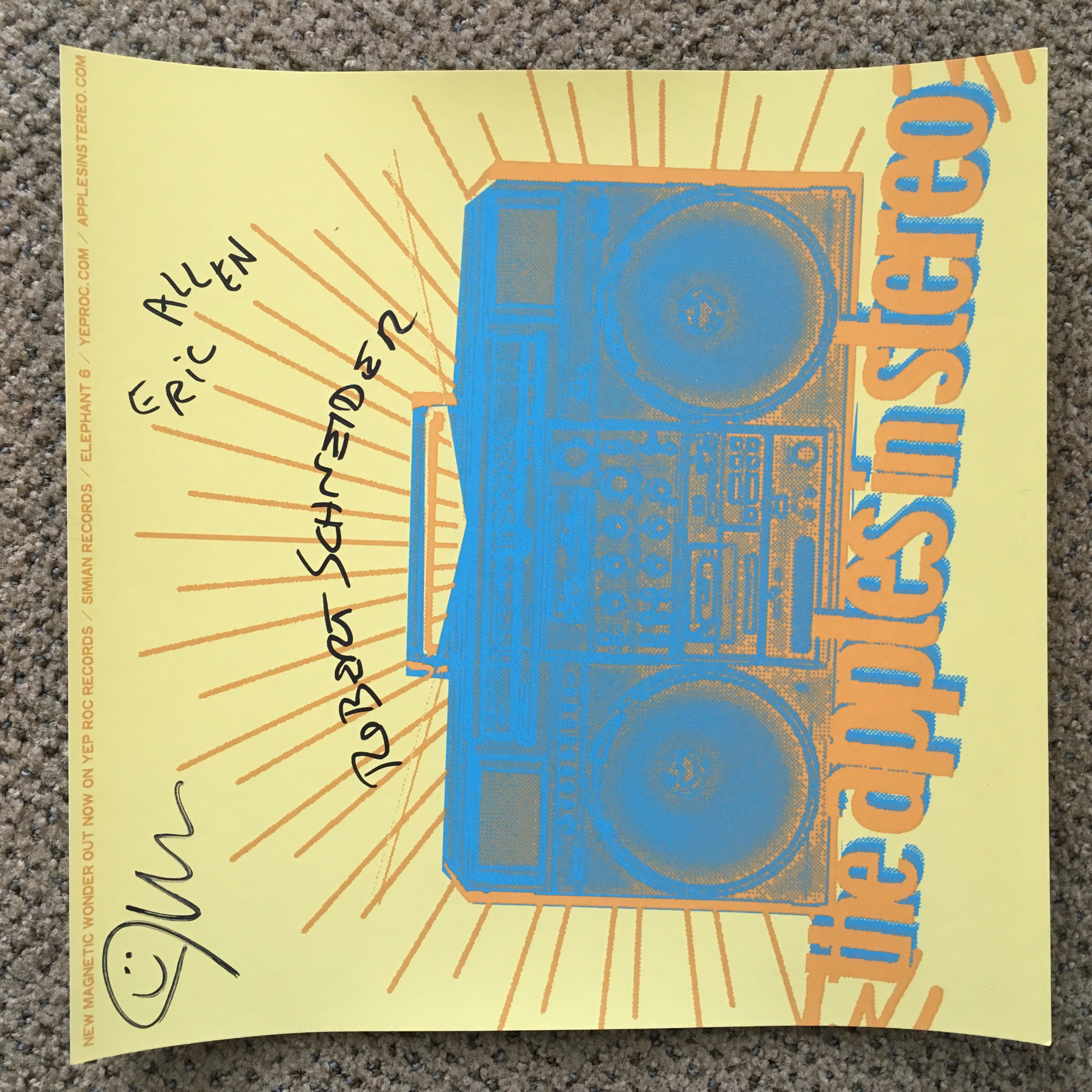 The Apples in Stereo Limited Edition Logo AUTOGRAPHED Poster