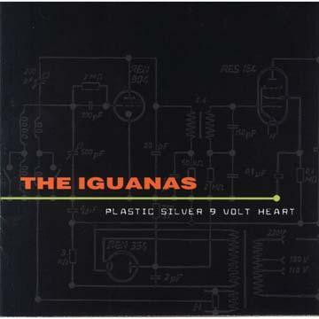The Iguanas - Plastic Silver 9-Volt Heart