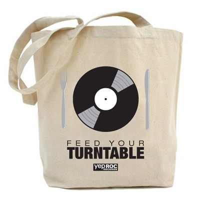 Yep Roc - Feed Your Turntable - Tote Bag Yep Roc Music Group Store