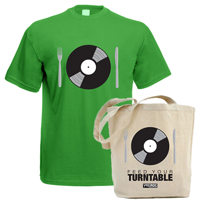 Feed Your Turntable - T-Shirt/Tote - Bundle