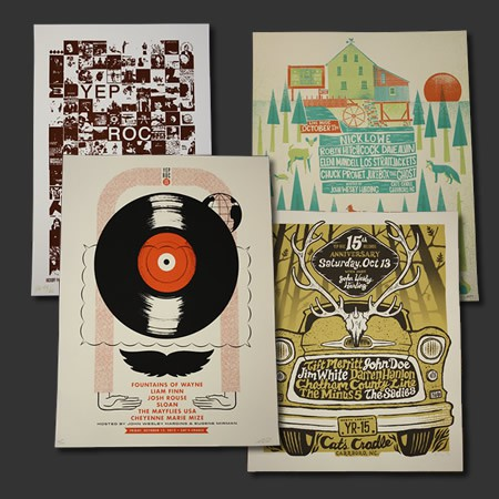 Yep Roc 15 Single Night Silk-Screened Poster Bundle