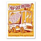 Yep Roc Records - SXSW Screen Printed Poster